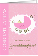 Congratulations - birth of new granddaughter card
