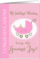 Congratulations - birth of granddaughter baby carriage card