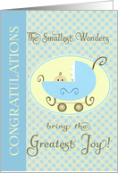 Congratulations - Birth of Grandson Baby Carriage card