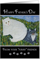 Father's Day - cats card