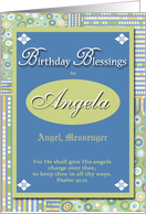 Birthday Blessings - Angela card
