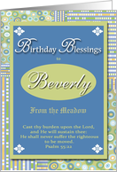 Birthday Blessings - Beverly card