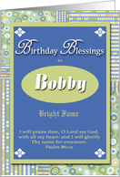 Birthday Blessings - Bobby card