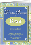 Birthday Blessings - Brad card