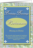 Birthday Blessings - Brianna card