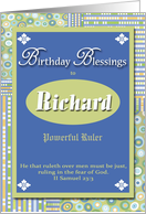 Birthday Blessings - Richard card