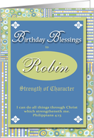 Birthday Blessings - Robin card