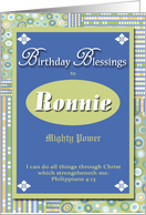 Birthday Blessings - Ronnie card