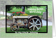 Uncle ___th birthday Tractor - custom name age card
