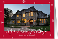 New Home Photo Christmas Greetings Snowflake card