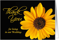 Thank you for being in our wedding - sunflower card