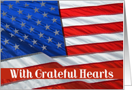 Grateful Hearts Flag - Thank you card