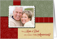 Happy ___th Anniversary Mom & Dad Custom Photo card