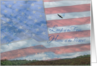 Land of the Free Home of the Brave card