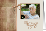You're in my Thoughts - Ribbon-look Custom Photo Card
