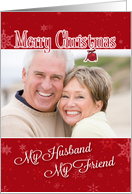 My Husband, My Friend - Christmas Custom Photo Card