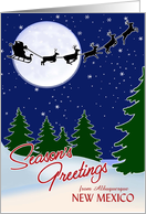 Customizable Season's Greetings from Your Town, New Mexico card