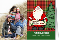 Customizable from Family -Christmas Tree and Santa card