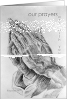 Our Prayers, Pencil art card