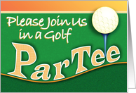 Golf Business Event Invitation ParTee Par Tee card