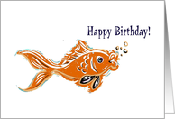 Goldfish Birthday card