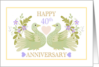 40th Anniversary Doves card