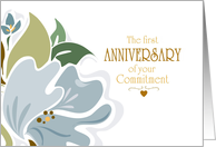 First Anniversary Of Commitment card
