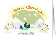 Christmas Across The Miles card