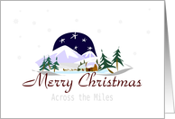 Merry Christmas Across The Miles card