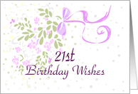 Twenty First Birthday Wishes card