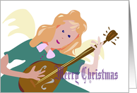 Angel Music Christmas card