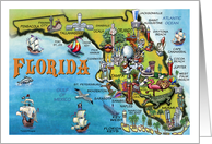 We've Moved, Florida Cartoon Map card