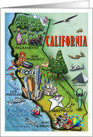 We've Moved, California Cartoon Map card