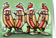 Hot Dog Christmas card