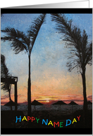 Tenerife Sunset card