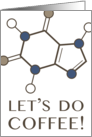 Let's Do Coffee Happy International Coffee Day Molecules card