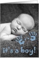 it's a boy! : customizable picture card