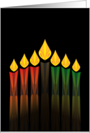kwanzaa candles party invitation card