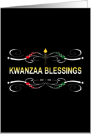 Kwanzaa Blessings Party Invitations card