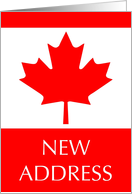 new address (canadian flag) card