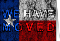 texas flag moving announcement card