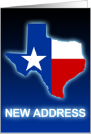 texas flag new address announcement card