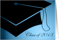 Class of 2013 Graduation Cap Announcement card