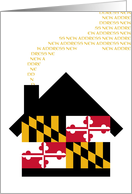 new maryland address (flag) card