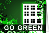 GO GREEN : hi-fi building card