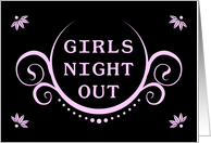 girls night out party invitation card