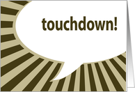 touchdown! : superbowl party invitations card