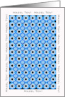 Mazel Tov, Star of David Pattern in Blue, Bat Mitzvah, Bar Mitzvah card