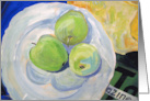 Get Well, Feel Better, Painting of Granny Smith Apples on a Plate card