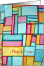 Thank You for Caregiver, Quilt of Love card